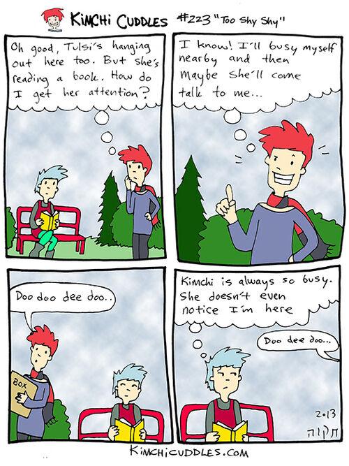 Kimchi Cuddles Comic 223 - Too Shy Shy
