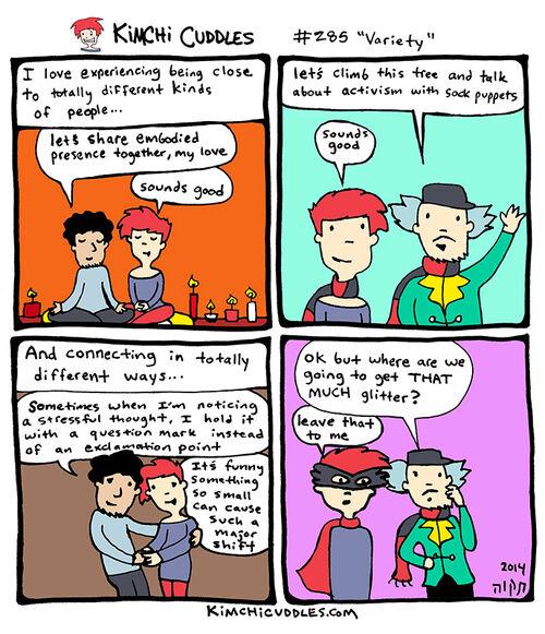 Kimchi Cuddles Comic 284 - Variety