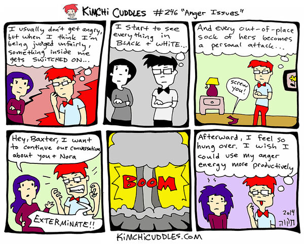Kimchi Cuddles Comic 246 - Anger Issues