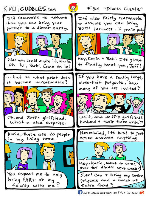 Kimchi Cuddles Comic 501 - Dinner Guests
