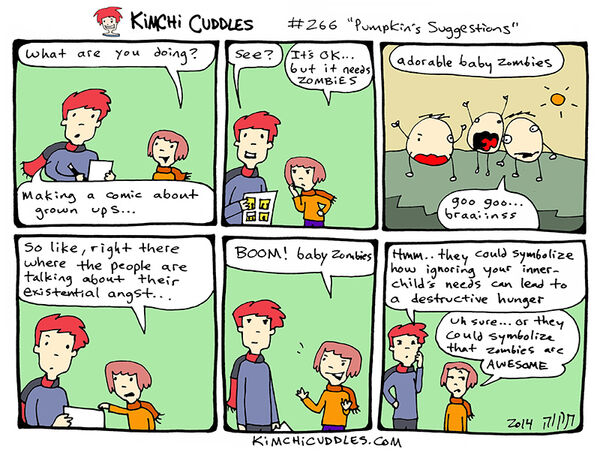 Kimchi Cuddles Comic 266 - Pumpkin's Suggestions