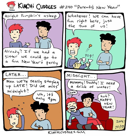 Kimchi Cuddles Comic 240 - Parent's New Year