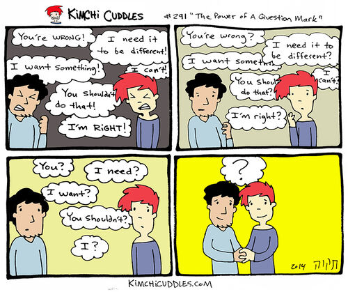 Kimchi Cuddles Comic 291 - The Power of A Question Mark