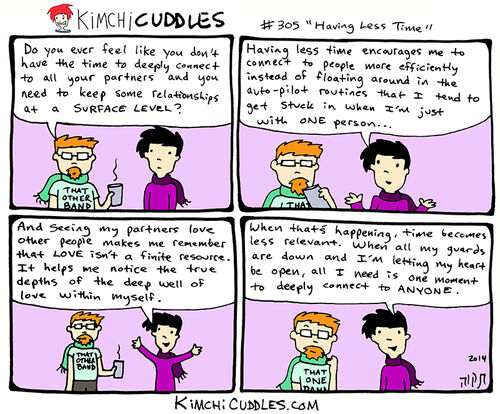 Kimchi Cuddles Comic 305 - Having Less Time