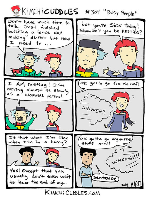 Kimchi Cuddles Comic 304 - Busy People