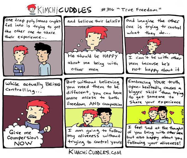 Kimchi Cuddles Comic 306 - True Freedom