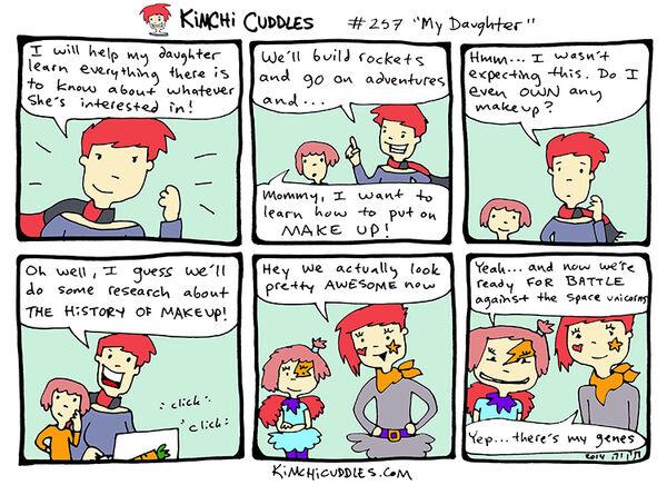 Kimchi Cuddles Comic 257 - My Daughter