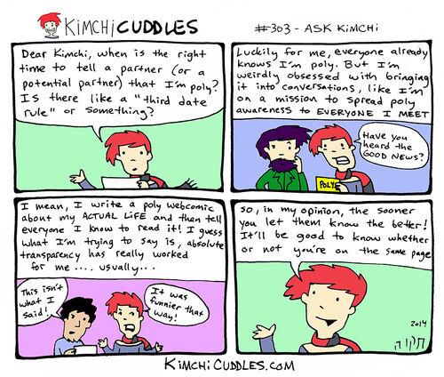 Kimchi Cuddles Comic 303 - ASK KIMCHI