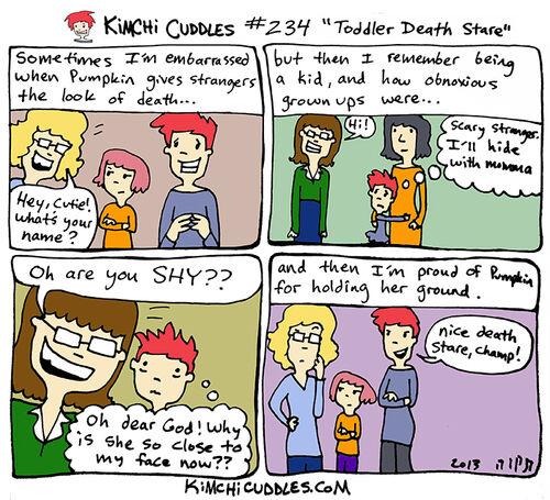 Kimchi Cuddles Comic 234 - Toddler Death Stare