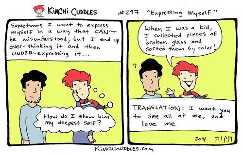 Kimchi Cuddles Comic 297 - Expressing Myself