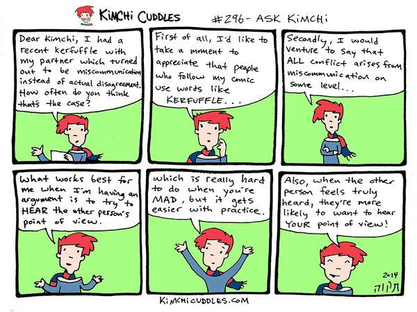 Kimchi Cuddles Comic 296 - ASK KIMCHI