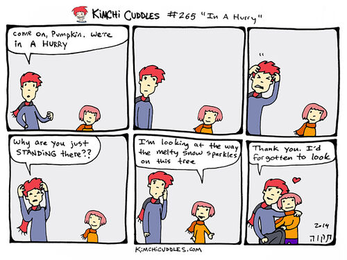 Kimchi Cuddles Comic 265 - In A Hurry