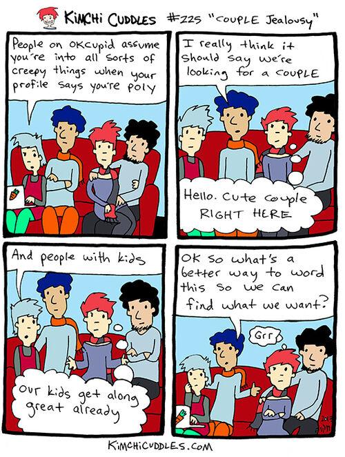 Kimchi Cuddles Comic 225 - COUPLE Jealousy