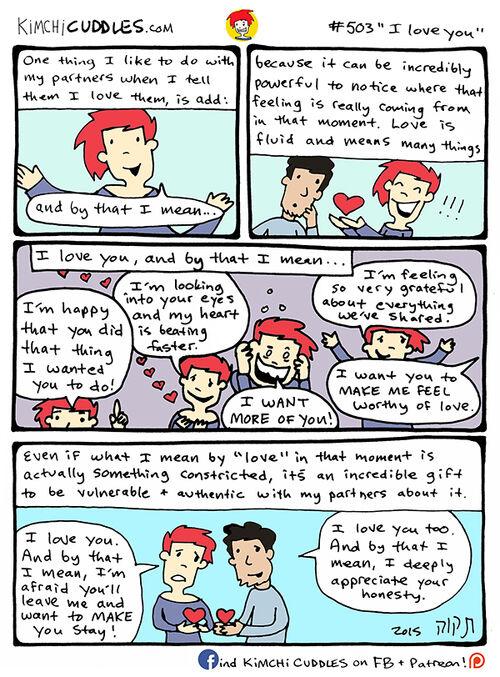 Kimchi Cuddles Comic 503 - I Love You
