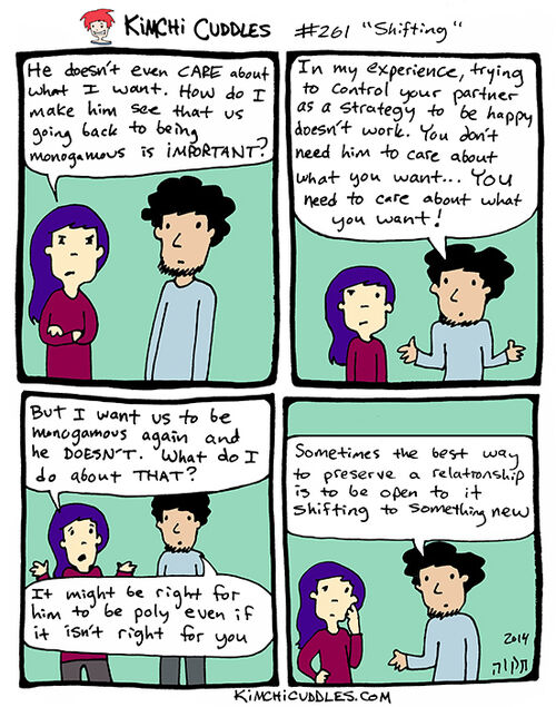 Kimchi Cuddles Comic 261 - Shifting