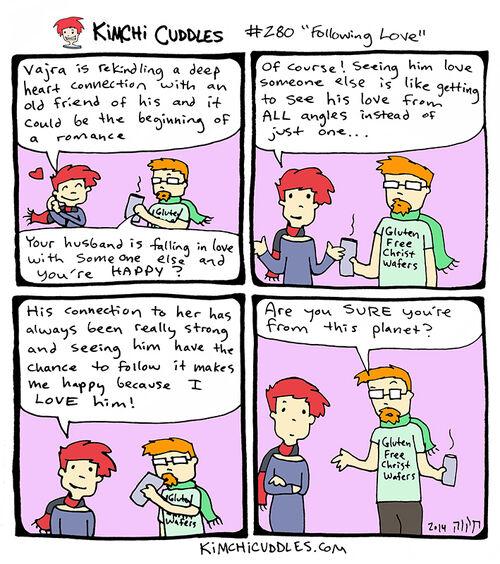 Kimchi Cuddles Comic 280 - Following Love