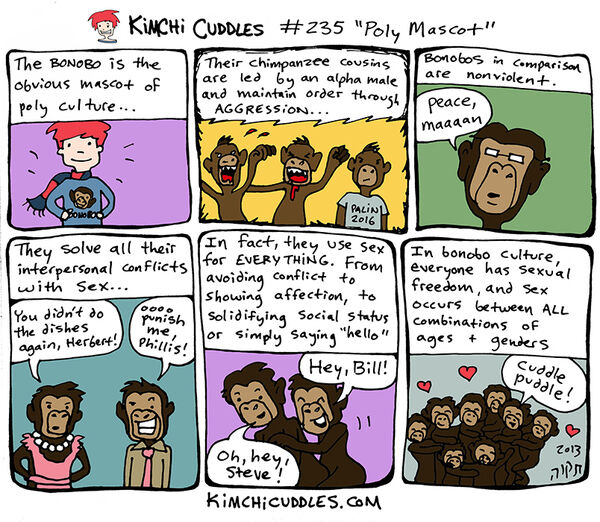 Kimchi Cuddles Comic 235 - Poly Mascot