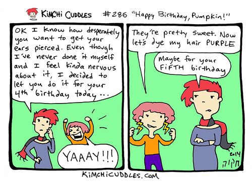 Kimchi Cuddles Comic 285 - Happy Birthday, Pumpkin!