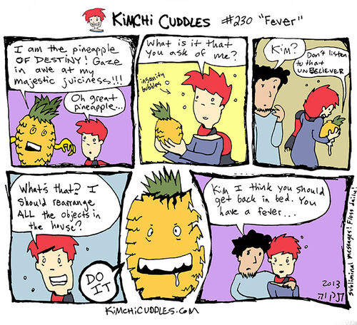 Kimchi Cuddles Comic 230 - Fever