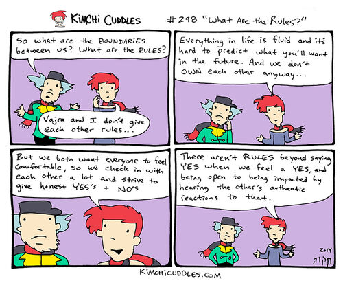 Kimchi Cuddles Comic 298 - What Are the Rules