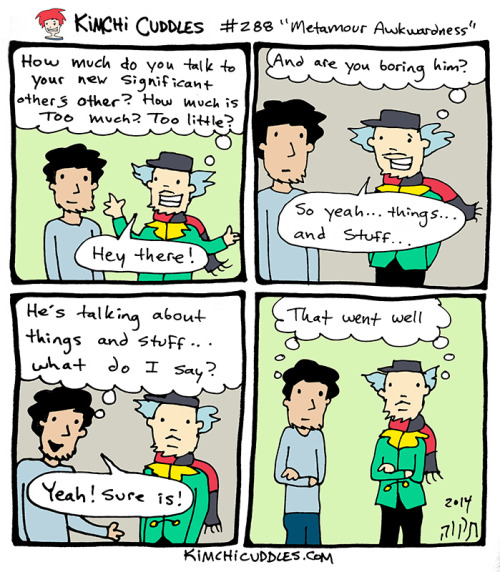 Kimchi Cuddles Comic 288 - Metamour Awkwardness