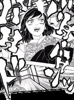Inosuke hears and chases the Demon