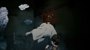 Yushiro getting his head blown by Susamaru