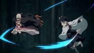 Nezuko dodging Kanao attacks