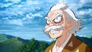 Jigoro trying to make Zenitsu come down