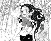 Tanjiro saving his sister CH1