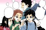 Sabito, Makomo, and Giyu's reincarnations (colored)