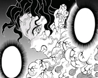 Muzan regenerating after the explosion CH139