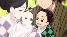 Tanjiro and Nezuko as babies