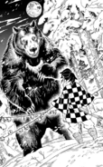 Tanjuro facing the bear CH151