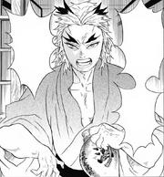 Shinjuro yells at Tanjiro