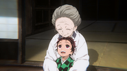 Tanjiro with his grandma