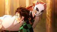 Sabito attacks Tanjiro