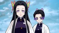 Kanae und Shinobu treffen auf Kanao