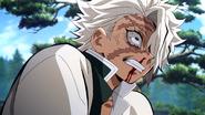 Sanemi angry at Tanjiro