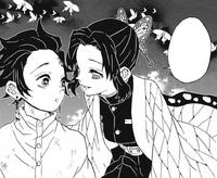 Shinobu appears besides Tanjiro