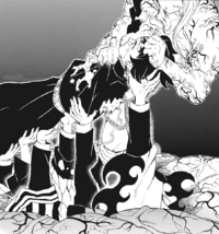 Tanjiro's deceased comrades help push him out CH203