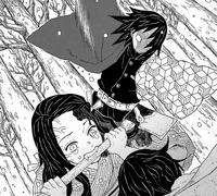 Giyu attacks Nezuko CH1