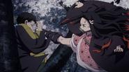 Nezuko kicks Yahaba