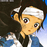 Tanjiro colored profile (training under Sakonji)