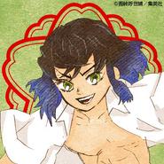 Inosuke colored profile (Kimetsu Academy)