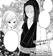 Amane and Kagaya hearing of Kyojuro's death