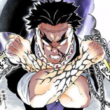 Gyomei colored profile (Demon Slayer Mark)