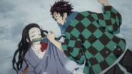 Tanjiro and Nezuko awaken