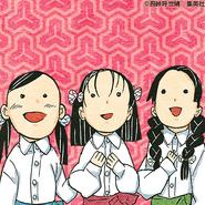 Sumi, Kiyo, and Naho colored manga profile