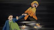 Zenitsu dragging Shoichi EP11
